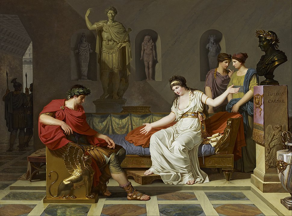 Louis Gauffier - Cleopatra and Octavian - Google Art Project