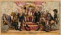 Louis XVIII sits on a throne surrounded by bowing marshals w Wellcome V0050172.jpg