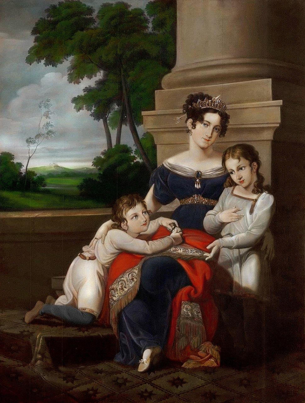 Louise of Saxe-Gotha-Altenburg, duchess of Saxe-Coburg and Gotha, with her children