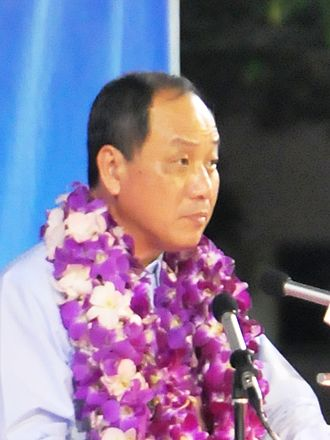Non-constituency Member of Parliament - Workers' Party Secretary-General Low Thia Khiang at a rally at Serangoon Stadium during the 2011 general election. Low said he would not accept an NCMP seat if offered one. The situation did not arise as Low was re-elected to Aljunied GRC.