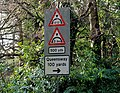 Low bridge sign, Lambeg - geograph.org.uk - 1720960.jpg