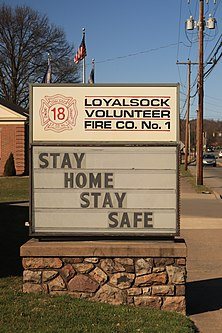Loyalsock Volunteer Fire Co COVID-19 warning sign.jpg
