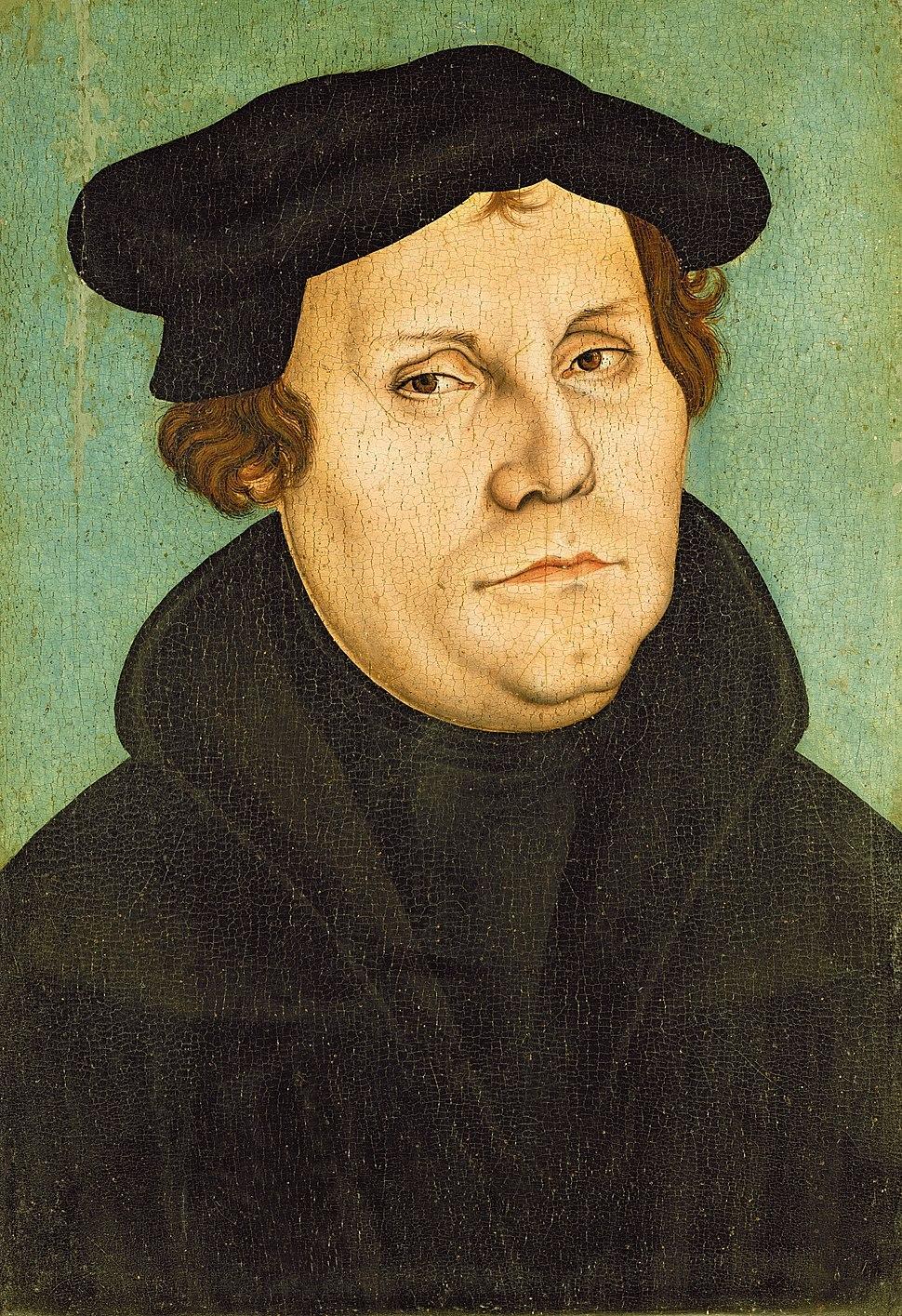 Lucas Cranach d.Ä. (Werkst.) - Porträt des Martin Luther (Lutherhaus Wittenberg)