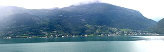 Luster, Norway - View of the village of Luster