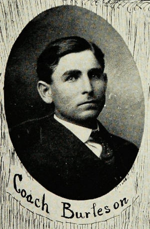 Luther Burleson - Burleson pictured in The Round-Up 1908, Baylor yearbook