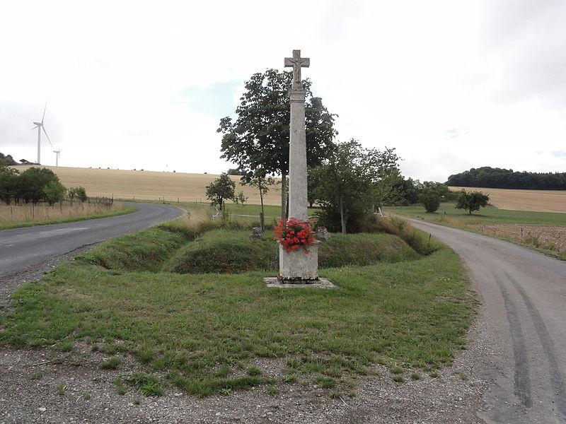 Méligny-le-Grand (Meuse) croix de chemin