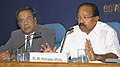 M. Veerappa Moily addressing a Press Conference on National Consultation for Strengthening the Judiciary towards Reducing Pendency and Delays scheduled for 24th and 25th October, 2009, in New Delhi on October 21, 2009.jpg