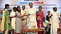 M. Venkaiah Naidu felicitating the women who have survived acid attack and got their vision restored, at the OSKON 2018 (Ocular Surface and Keratoprosthesis Conference), organised by Sankara Netralaya, in Chennai (2).JPG