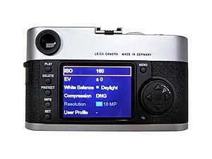 Leica M8 - Image: M8 Rear