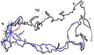 M8 highway (Russia) - Image: M8 karte gross