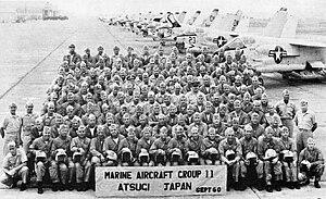 Marine Aircraft Group 11 - Personnel of MAG-11 at NAS Atsugi, Japan, September 1960.