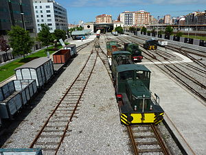 Gijón Railway Museum - Outdoor tracks overview.