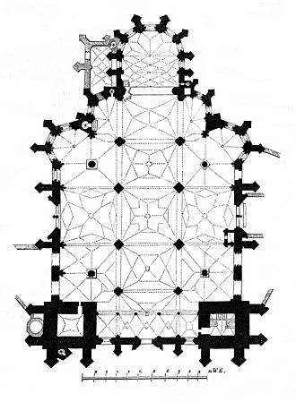 St Elisabeth Cathedral - Floor plan