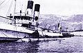 M Bar - Sous-Marin Farfadet remorqué par le remorqueur français Cyclope - oct 1905.jpg