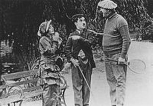 Mabel's Married Life - Still of Normand, Chaplin and Swain from the film
