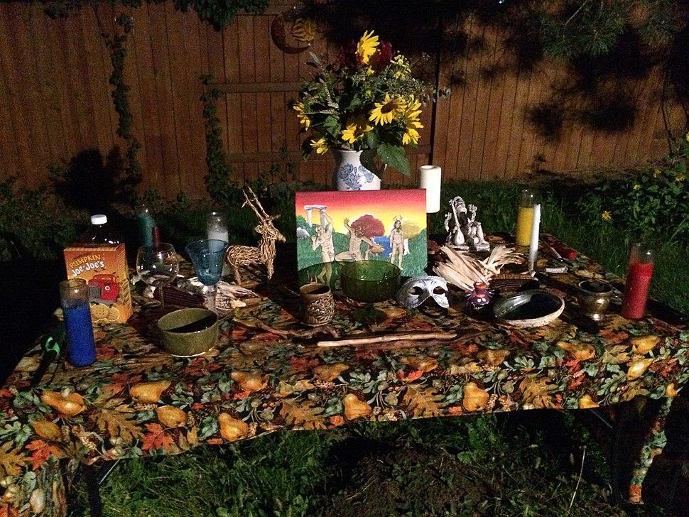Mabon-Fall Equinox 2015 Altar by the Salt Lake Pagan Society, Salt Lake City, UT