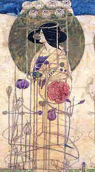 Catherine Cranston - Mackintosh's design for the frieze at the Buchanan Street tearoom.