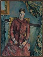 Madame Cézanne (Hortense Fiquet, 1850–1922) in a Red Dress