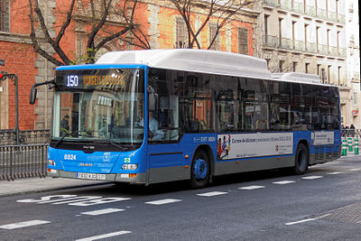 A bus in Madrid.