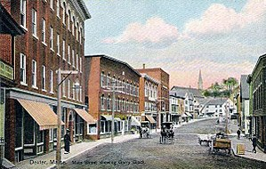 Dexter, Maine - Main Street in 1909