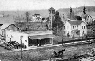 Gaston, Oregon - Main Street, 1910