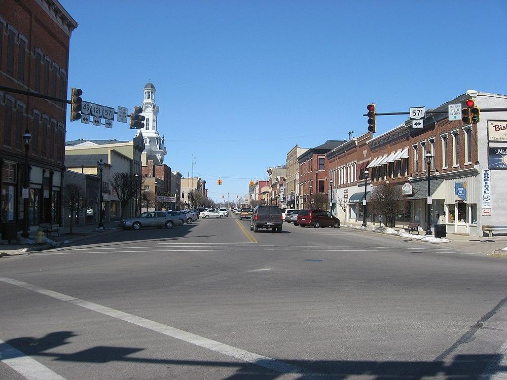 The population density of Greenville in Ohio is 767.55 people per square kilometer (1987.14 / sq mi)