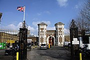Main gate to the HM Prison Wormwood Scrubs in spring 2013 (1).JPG