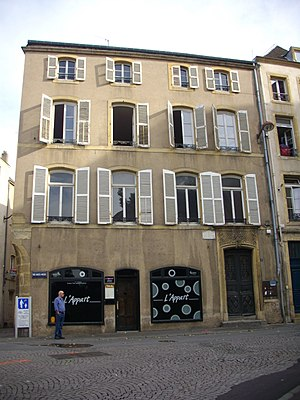 Paul Verlaine - The House of Verlaine, Verlaine's birthplace in Metz, today a museum dedicated to the poet's life and artworks