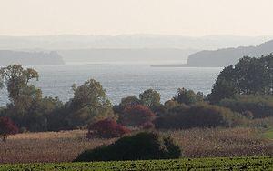 Mecklenburg Switzerland - Image: Malchiner See von Wendischhagen