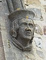 Male gargoyle on St Peter's Church, Fremington.jpg