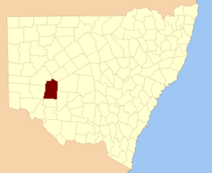 Manara County - Location in New South Wales