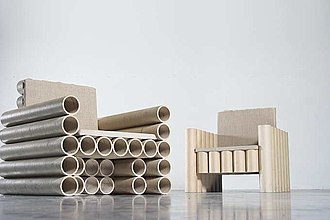 Cardboard furniture - Image: Manfred kielnhofer contemporary art design paper tube chair
