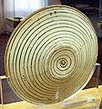 Manises, piatto in maiolica lustrata con agnus dei, 1450-1500 ca. 02 retro.jpg