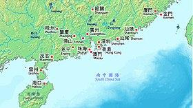 華南地区の都市