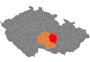 Žďár nad Sázavou District - Image: Map CZ district Zdar nad Sazavou