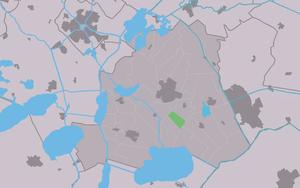 Ouwsterhaule - Image: Map NL Skarsterlân Ousterhaule