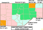 Map of Crawford County Pennsylvania School Districts.png