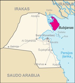 Map of Kuwait Bubijanas (lithuanian).png