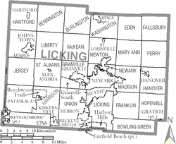 Map of Licking County Ohio With Municipal and Township Labels.PNG