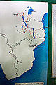 Map of Livingstone's travels, Blantyre Chichiri Museum.jpg