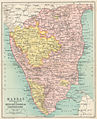 Map of Madras (Southern section) with Mysore, Coorg, and Travancore from The Imperial Gazetteer of India (1907-1909).jpg