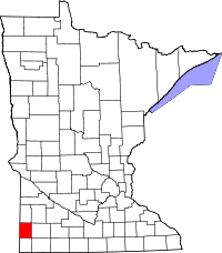 Map of Minnesota highlighting Pipestone County.svg