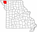 Map of Missouri highlighting Nodaway County.png