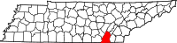 Map of Tennessee highlighting Hamilton County