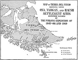Map of Tierra del Fuego showing Ona, Yahgan, Haush.jpg