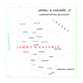 Map of Union Territory of Jammu and Kashmir of India.png