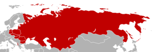 Map of Warsaw Pact member states