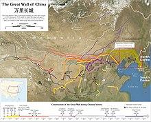 hvor ligger den kinesiske mur