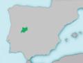 Mapa Cobitis vettonica.png