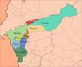 Mapa de los distritos de la provincia de Dos de Mayo.png
